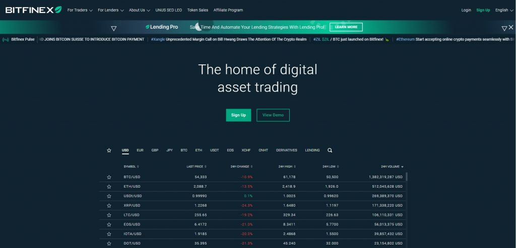 Altcoin Exchange Bitfinex