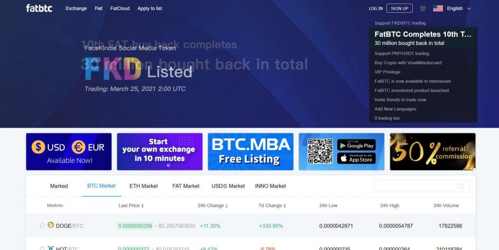 Altcoin Exchange Fatbtc