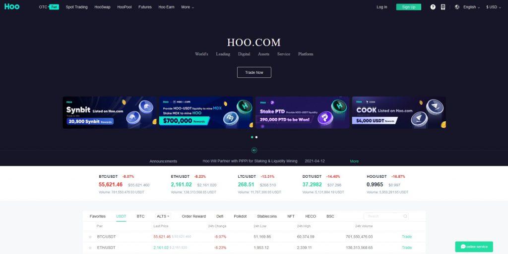 Altcoin Exchange Hoo