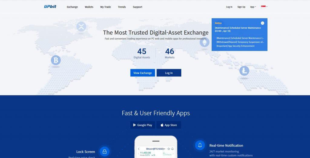Altcoin Exchange Upbit