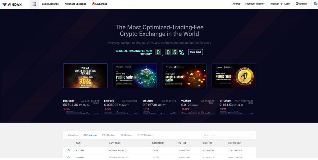 Altcoin Exchange Vindax